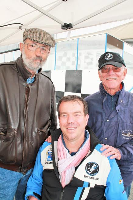 At the start of the 24 HOURS of MANS 2016. Three legends, Henri-PESCAROLO-Frédéric-SAUSSET and Jean-Pierre-JAUSSAUD-Photo-Emmanuel-LEROUX.
