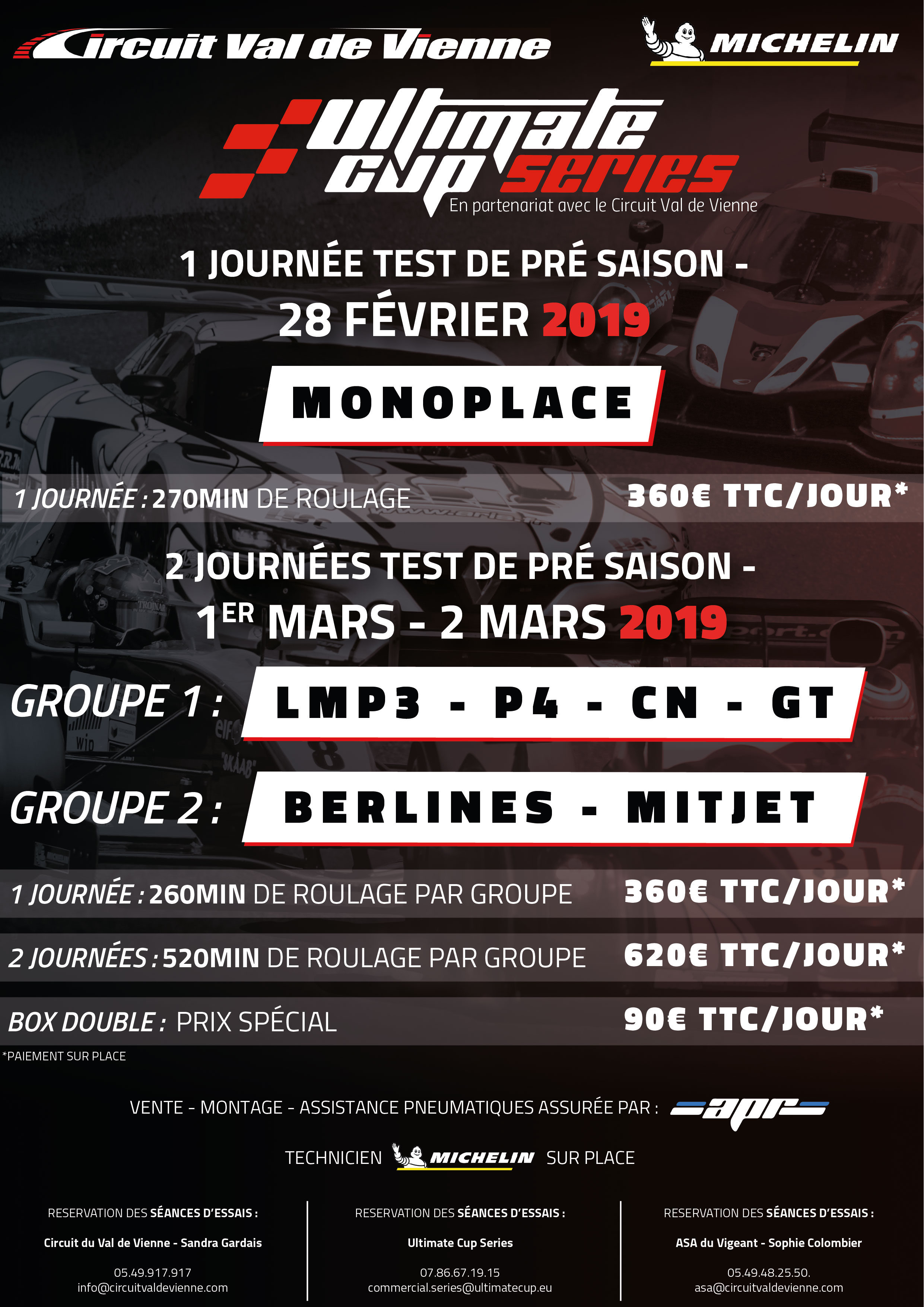 Circuit Val De Vienne Calendrier 2019.L Ultimate Cup Series Organise Plusieurs Journees D Essais