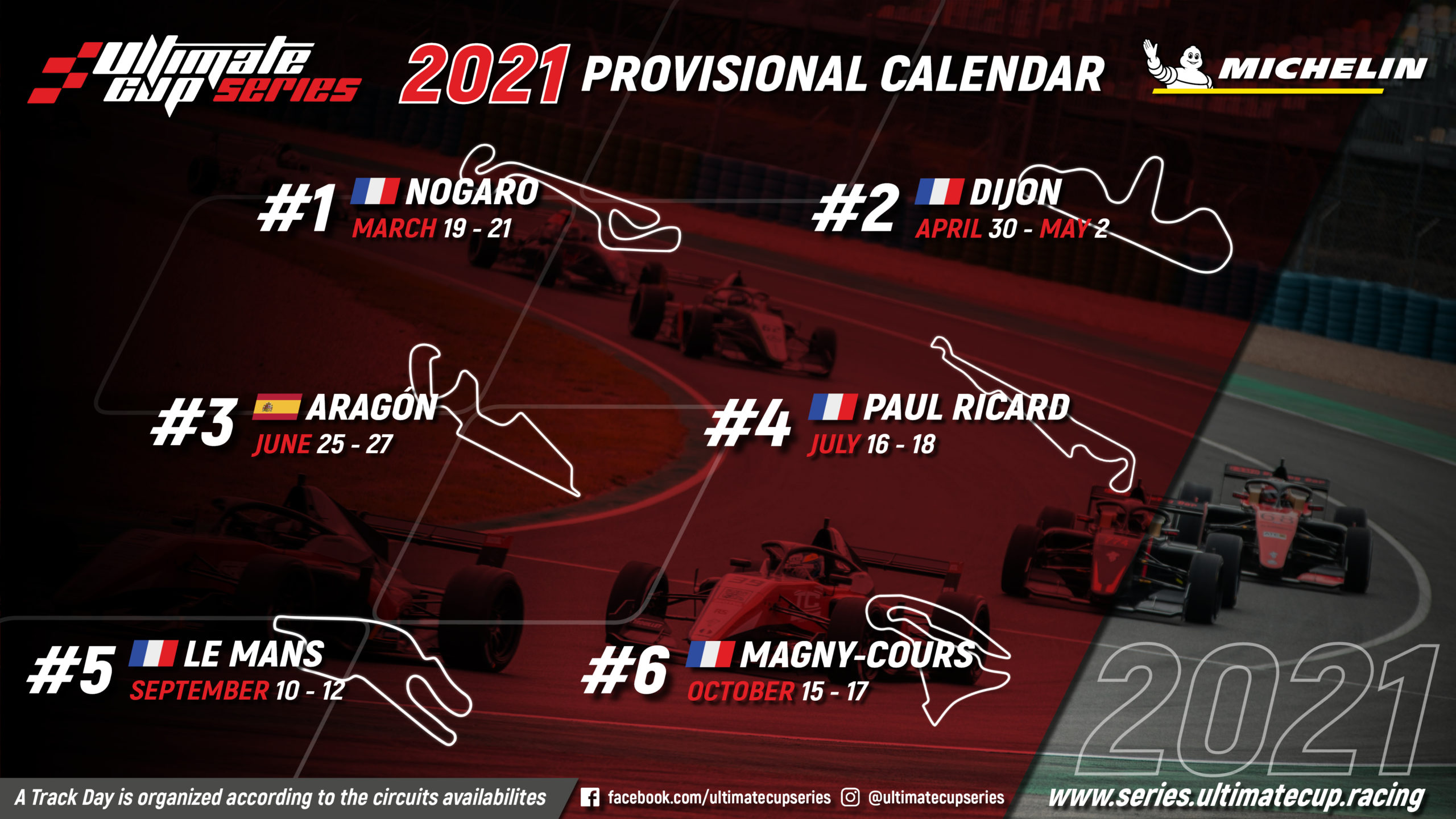 Calendar 2021 Ultimate Cup Series